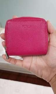 authentic furla pink wallet
