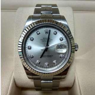 used Rolex Datejust Diamond - 116334
