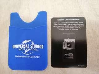Universal Studios Hollywood , silicome cell phone wallet