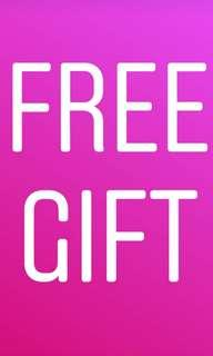 Free Gift For Every Purchased