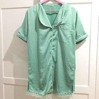 Sateen Pajamas Pyjamas Dress