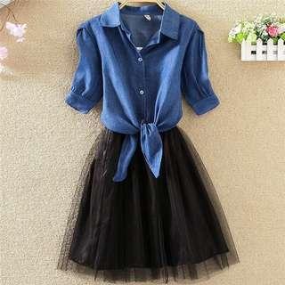 One piece dress (with denim shirt) (Postage included)
