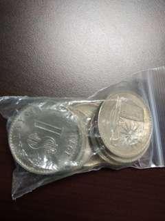 Syiling 1 ringgit dan 1cent keris