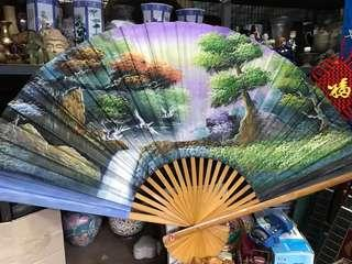 Big fan for display hand painted 35inches/5F