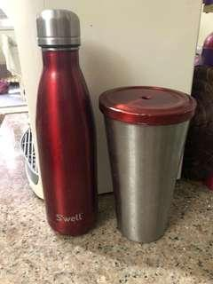 Lot of 2 authentic Swell and Starbucks tumbler