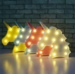 Unicorn Head LED Mini Room Lamp