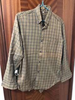 Used Muji shirt 格仔 恤衫 size L