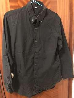 Used muji shirt 黑色 恤衫 size L