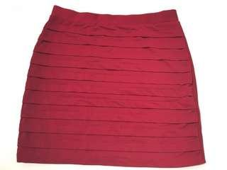 Temt Maroon Mini Skirt in size Small
