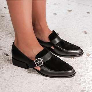 Jo Mercer xara loafers black leather