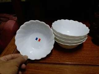 庫存新品~法國強化玻璃碗~5只