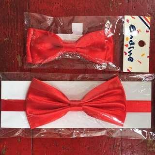 🚚 全新紅色蝴蝶結領結