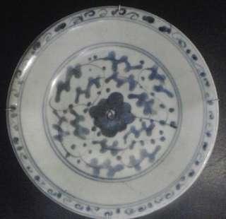 Piring China kuno antik dia.17cm