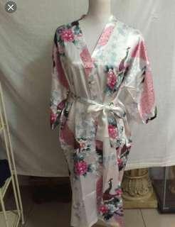 New Oriental Village silk gown in white
