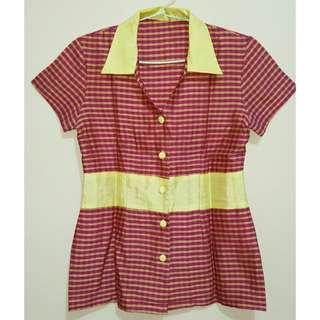 Pinky Square Blouse
