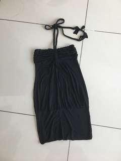 Shouder off Black Skirt