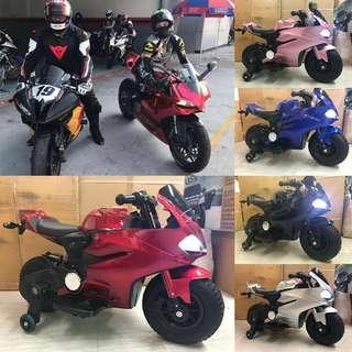 Ducati Rechargeable Ride On Motorcycle Big Bike Motorbike with Rubber Tires