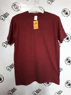 Kaos polos maroon build up maroon