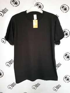 Kaos polos build up hitam