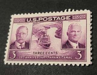 USA 1939. The 25th Anniversary of the Panama Canal complete set of 1 stamp