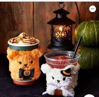 🇯🇵日本限定版🇯🇵Halloween Tully's Coffee Bear Cup Sleeve ( Limited Edition)