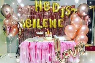 Helium Balloons Set (Rose Gold)