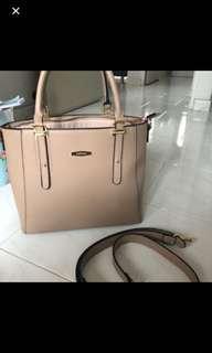 Perlini and Mel taupe nude handbag bag