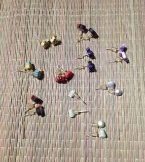Clay and plastic earrings bundle