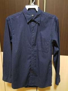 Uniqlo navy long sleeve shirt S