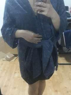 FLASH SALE!!! PreLoved Semi Long Kimono with slits (Bangkok Brand)