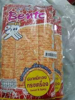 全新便宜賣♡泰國帶回辣魷魚片組一組12入130