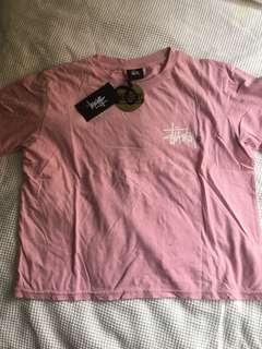 Stussy Blush Pink Tshirt Crop