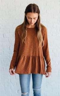 AEO soft and sexy pumpkin top