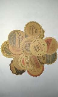 17pcs. Vintage Style Cryptica Sticker