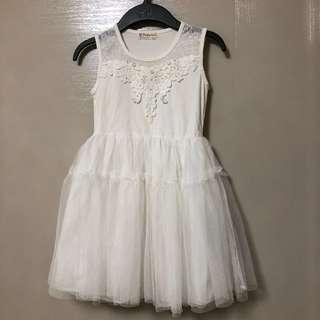 🚚 公主風 白色洋裝