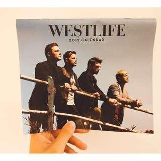 WESTLIFE/2012月曆