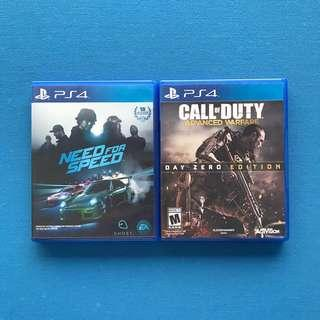 Ps4 Games | Need for Speed | Call of Duty