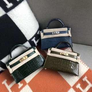 Hermes mini kelly Alligator