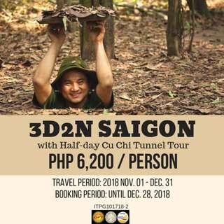 3D2N Saigon with Cu Chi Tunnel Tour