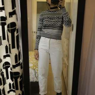 H&M Black and White Knit Sweater