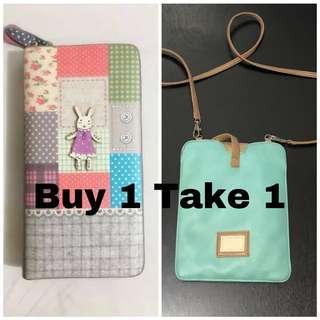 Buy 1 take 1 - Wallet and sling bag