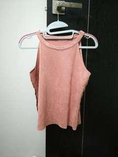 ulzzang dusty pink sleeveless top