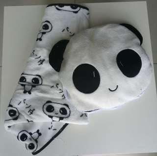 Panda Travel 2-in-1 Blanket and Pillow