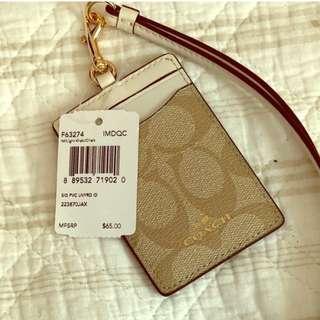 Coach 證件套 Badge ID card holder (全新)