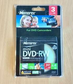 Memorex Mini DVD-RW Media-  3/blister pack  1x - 2x 1.4GB Mini DVD-RW