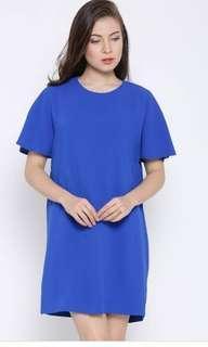 MANGO Blue Shift Dress