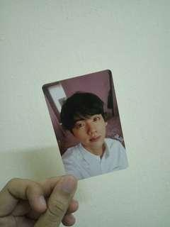 WTS BTS JIN OFFICIAL PHOTOCARD