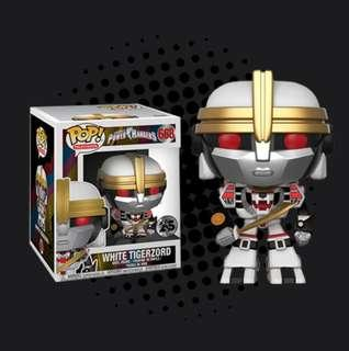 "2eb806d9b2f FUNKO POP - POWER RANGERS - WHITE TIGERZORD 6"" SUPER SIZED"