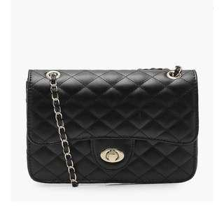 Square Quilted Cross Body Bag