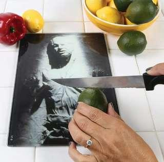 (PREORDER)Han Solo in Carbonite Glass tempered cutting Board